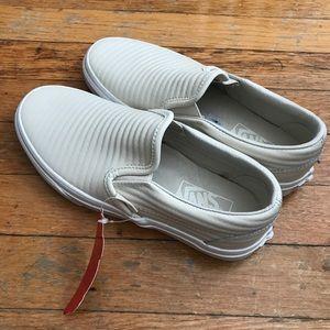 290df540eb Vans Shoes - NWT Vans Birch Moto Leather Slip-Ons